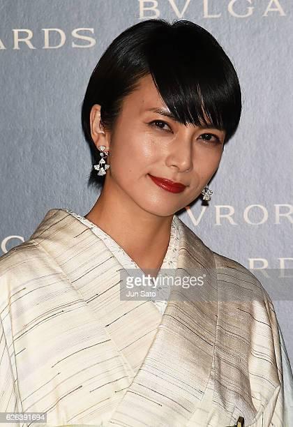 Actress Ko Shibasaki attends the Bvlgari Avrora Awards at the Midtown Square on November 29 2016 in Tokyo Japan