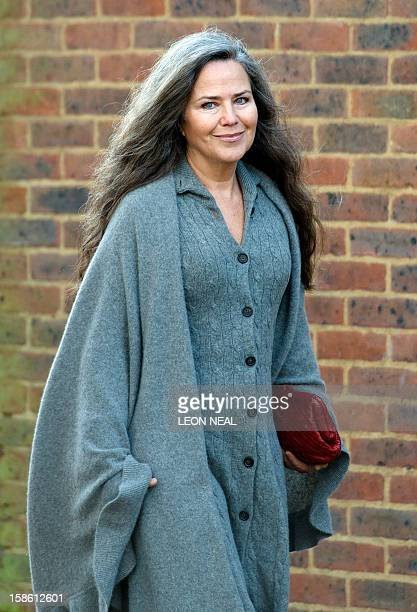 Actress Koo Stark former girlfriend of Britain's Prince Andrew arrives at Isleworth Crown Court in Isleworth west London on December 21 2012 for a...