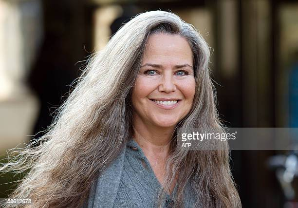 Actress Koo Stark former girlfriend of Britain's Prince Andrew leaves Isleworth Crown Court in Isleworth west London on December 21 2012 for a...