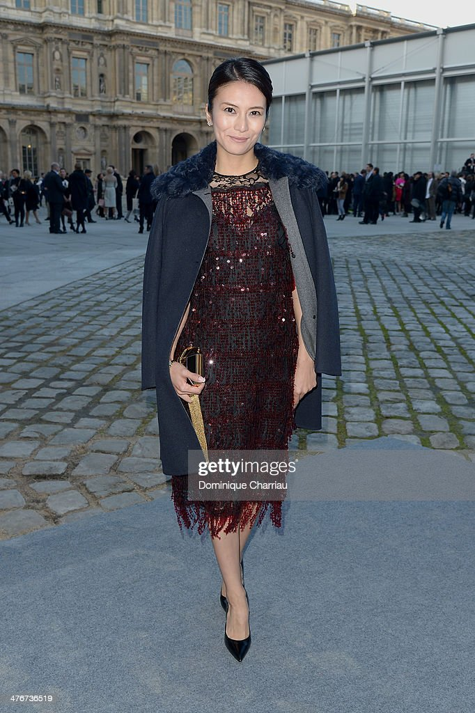 Louis Vuitton : Outside Arrivals  - Paris Fashion Week Womenswear Fall/Winter 2014-2015 : News Photo