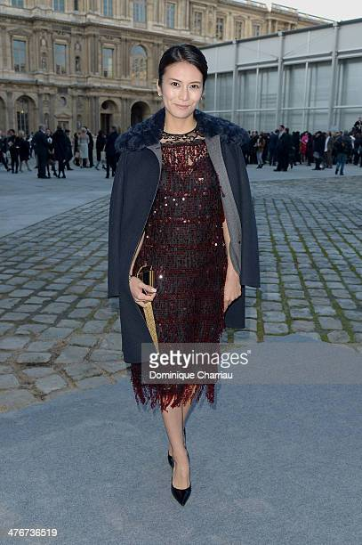 Actress Kou Shibasaki attends the Louis Vuitton show as part of the Paris Fashion Week Womenswear Fall/Winter 20142015 on March 5 2014 in Paris France