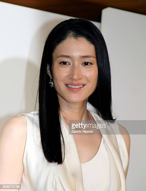 Actress Koyuki attends Max Factor Sk2 promotional event on May 18 2015 in Tokyo Japan