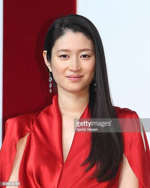Actress Koyuki attends Max Factor Sk2 promotional event on November 20 2012 in Tokyo Japan