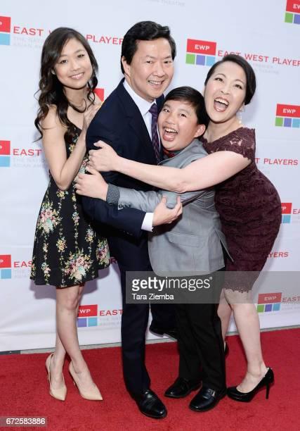 Actress Krista Marie Yu actor/executive producer Ken Jeong actor Albert Tsai and actress Suzy Nakamura attend the East West Players 'Radiant' 51st...