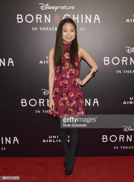 Actress Krista Marie Yu attends premiere of Disneynature's Born In China at Billy Wilder Theater on April 3 2017 in Los Angeles California