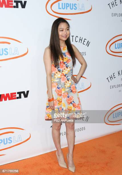 Actress Krista Marie Yu attends the Lupus LA's 2017 Orange Ball Rocket To A Cure at The California Science Center on April 22 2017 in Los Angeles...