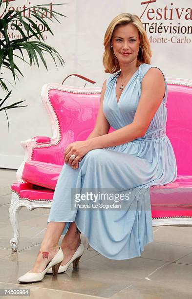 Actress Kristanna Loken attends a photocall promoting the television serie 'Painkiller Jane' on the second day of the 2007 Monte Carlo Television...