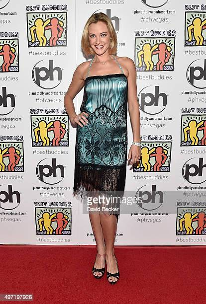 Actress Kristanna Loken attends the All In for Best Buddies celebrity poker tournament at Planet Hollywood Resort Casino on November 14 2015 in Las...