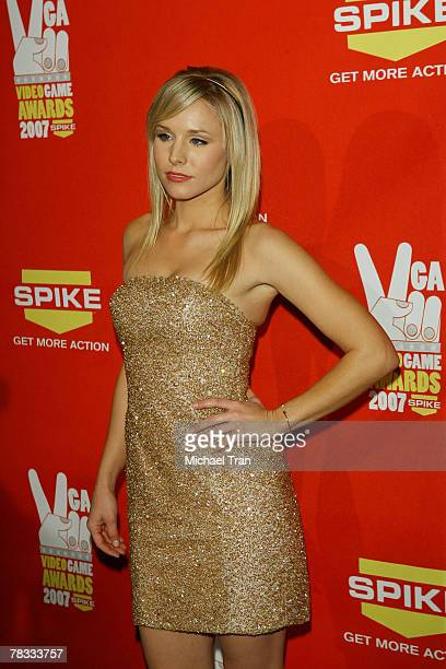 Actress Kristen Bell arrives at Spike TV's 5th Annual Video Game Awards held at Mandalay Bay Events Center on December 7 2007 in Las Vegas Nevada
