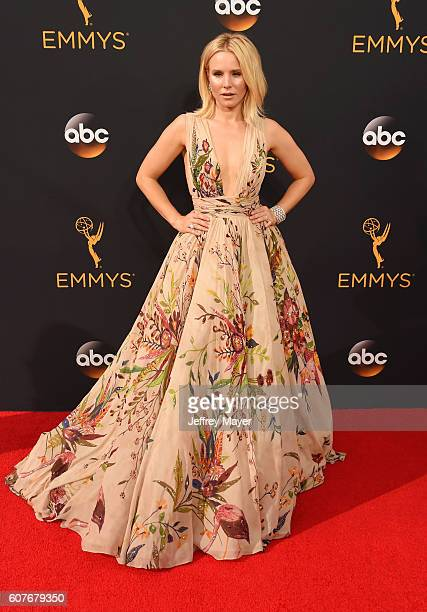 Actress Kristen Bell arrives at the 68th Annual Primetime Emmy Awards at Microsoft Theater on September 18 2016 in Los Angeles California