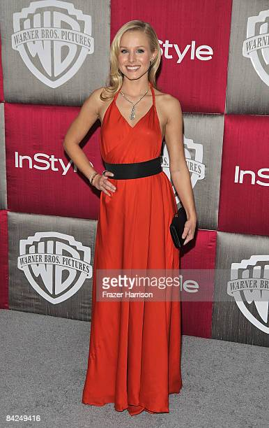 Actress Kristen Bell arrives at the InStyle/Warner Bros after party for the 66th Annual Golden Globe Awards held at the Oasis Court at the Beverly...