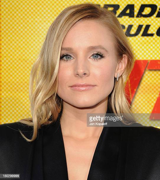 Actress Kristen Bell arrives at the Los Angeles Premiere Hit Run at Regal Cinemas LA Live on August 14 2012 in Los Angeles California