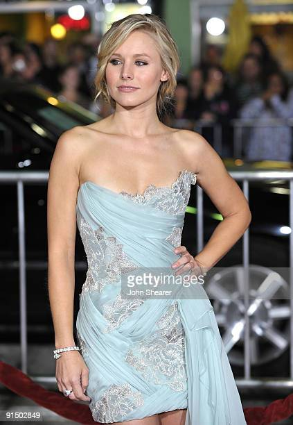 """Actress Kristen Bell arrives at the Los Angeles premiere of """"Couples Retreat"""" at the Mann's Village Theatre on October 5, 2009 in Westwood, Los..."""