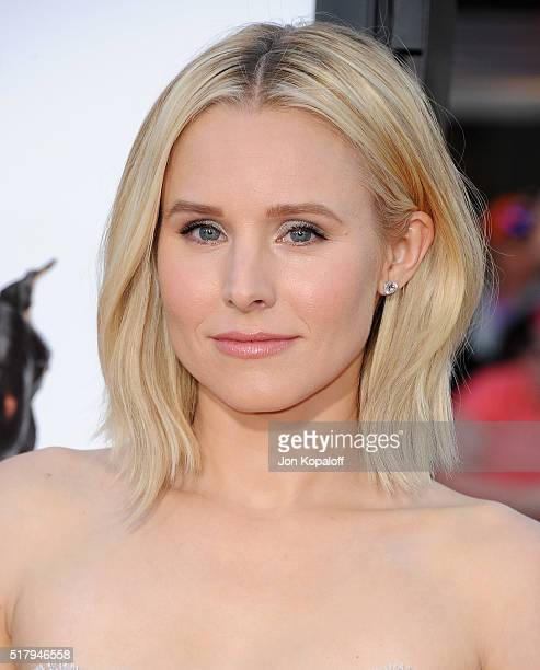 Actress Kristen Bell arrives at the Los Angeles Premiere The Boss at Regency Village Theatre on March 28 2016 in Westwood California