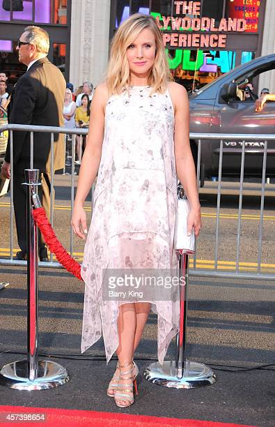Actress Kristen Bell arrives at the Los Angeles Premiere 'This Is Where I Leave You' at TCL Chinese Theatre on September 15 2014 in Hollywood...