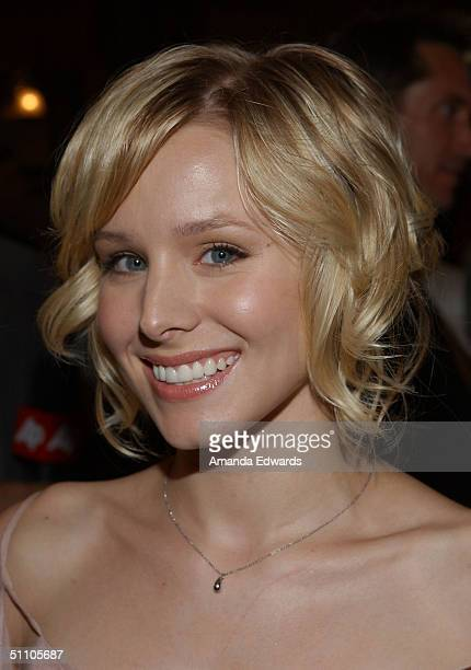 Actress Kristen Bell arrives at the opening night of 'Hairspray' on July 21 2004 at the Pantages Theatre in Hollywood California