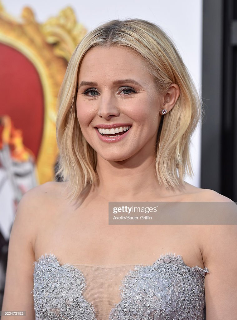 Actress Kristen Bell arrives at the premiere of USA Pictures' 'The Boss' at Regency Village Theatre on March 28, 2016 in Westwood, California