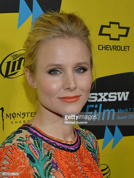 Actress Kristen Bell arrives at the premiere of 'Veronica Mars' during the 2014 SXSW Music Film Interactive Festival at the Paramount Theatre on...