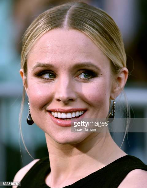 Actress Kristen Bell arrives at the Premiere Of Warner Bros Pictures' CHiPS at TCL Chinese Theatre on March 20 2017 in Hollywood California