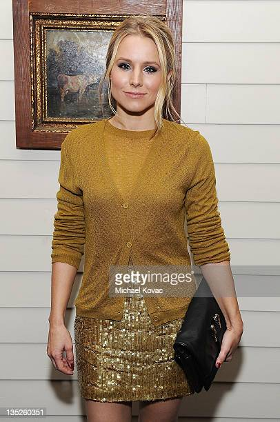 Actress Kristen Bell attends BVLGARI Celebrates the Holidays at Sherbourne on December 7 2011 in Los Angeles California