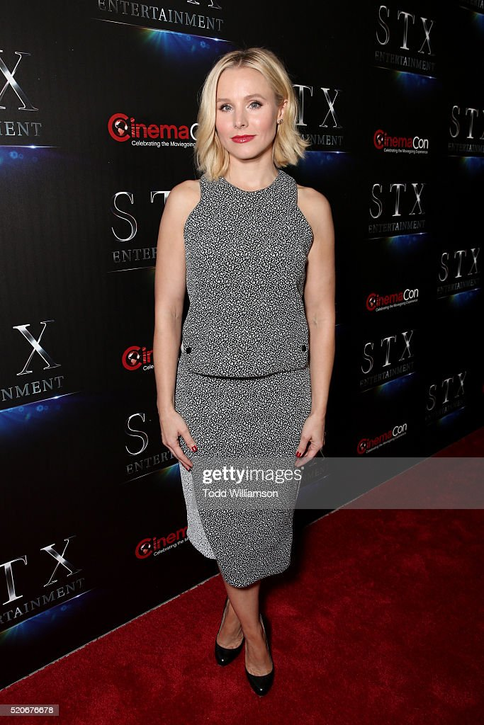 Actress Kristen Bell attends CinemaCon 2016 The State of the Industry: Past, Present and Future and STX Entertainment Presentation at The Colosseum at Caesars Palace during CinemaCon, the official convention of the National Association of Theatre Owners, on April, 12, 2016 in Las Vegas, Nevada.