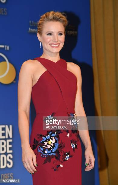 Actress Kristen Bell attends the 75th Annual Golden Globe Awards nomination announcement December 11 at the Beverly Hilton Hotel in Beverly Hills...