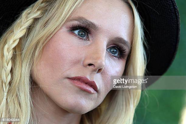 Actress Kristen Bell attends the 7th Annual Veuve Clicquot Polo Classic at Will Rogers State Historic Park on October 15 2016 in Pacific Palisades...