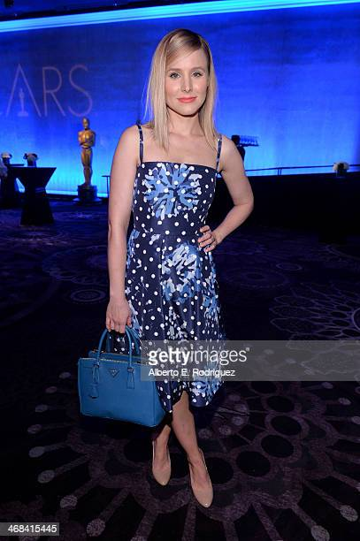 Actress Kristen Bell attends the 86th Academy Awards nominee luncheon at The Beverly Hilton Hotel on February 10 2014 in Beverly Hills California