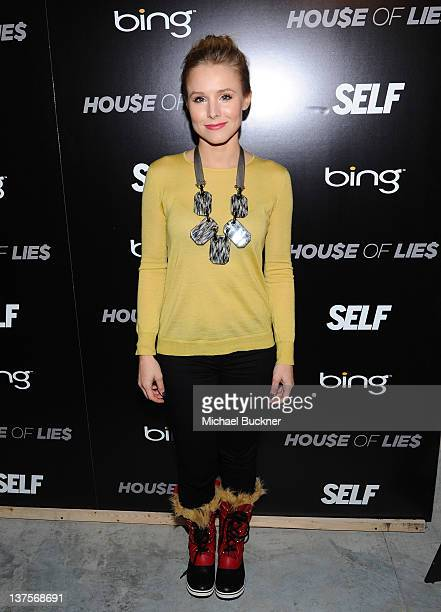 Actress Kristen Bell attends the Bing and Self Magazine celebration for Cover Star Kristen Bell featuring a screening of House of Lies at Bing Bar on...