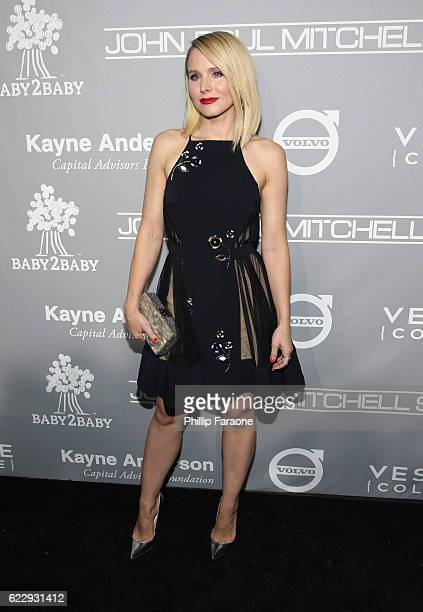 Actress Kristen Bell attends the Fifth Annual Baby2Baby Gala Presented By John Paul Mitchell Systems at 3LABS on November 12 2016 in Culver City...