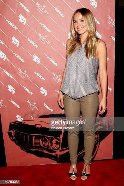 Actress Kristen Bell attends the GenArt Screening Series Presents Hit Run supported by Brancott Estate Wines at Tribeca Cinemas on July 25 2012 in...