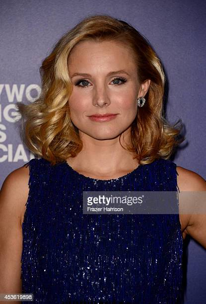 Actress Kristen Bell attends the Hollywood Foreign Press Association's Grants Banquet at The Beverly Hilton Hotel on August 14 2014 in Beverly Hills...