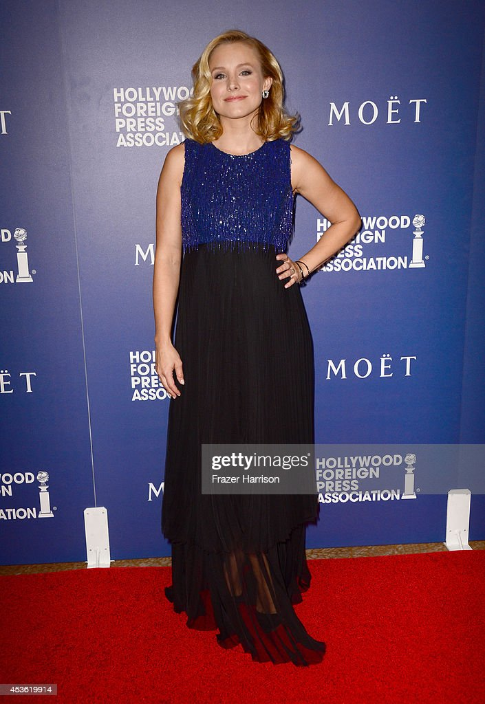 Actress Kristen Bell attends the Hollywood Foreign Press Association's Grants Banquet at The Beverly Hilton Hotel on August 14, 2014 in Beverly Hills, California.