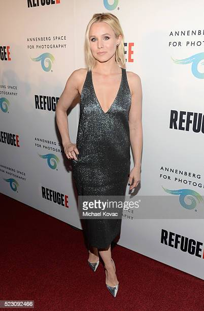 Actress Kristen Bell attends the opening of REFUGEE Exhibit at Annenberg Space For Photography on April 21 2016 in Century City California