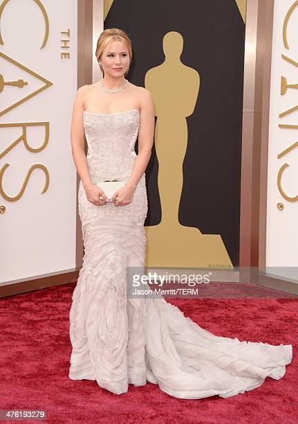 Actress Kristen Bell attends the Oscars held at Hollywood Highland Center on March 2 2014 in Hollywood California