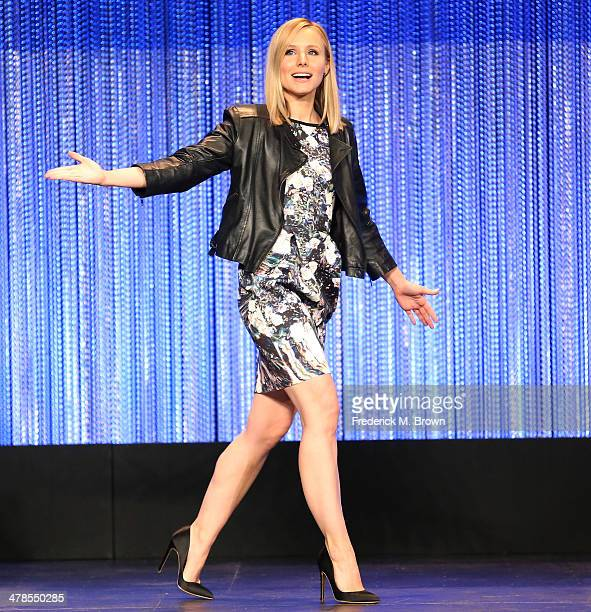 Actress Kristen Bell attends The Paley Center for Media's PaleyFest 2014 Honoring 'Veronica Mars' at the Dolby Theatre on March 13 2014 in Hollywood...