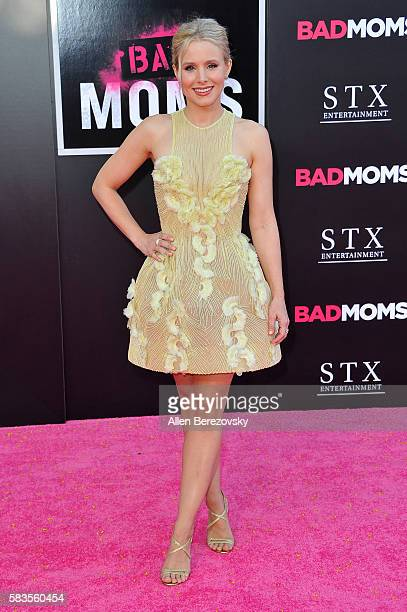 Actress Kristen Bell attends the Premiere ff STX Entertainment's Bad Moms at Mann Village Theatre on July 26 2016 in Westwood California