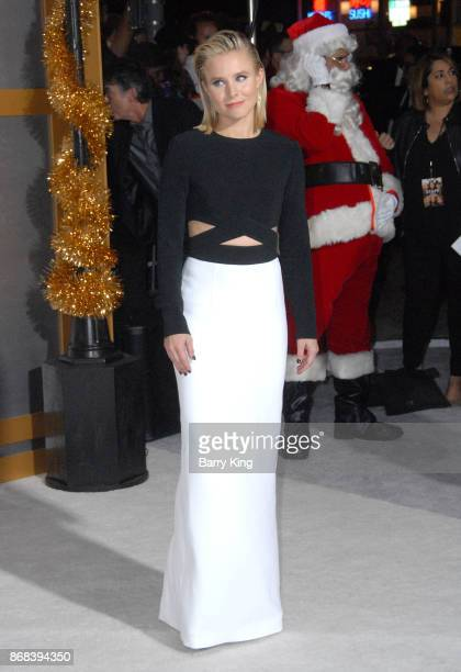 Actress Kristen Bell attends the premiere of STX Entertainment's 'A Bad Mom's Christmas' at Regency Village Theatre on October 30 2017 in Westwood...