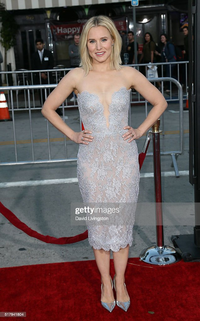 Actress Kristen Bell attends the premiere of USA Pictures' 'The Boss' at the Regency Village Theatre on March 28, 2016 in Westwood, California.