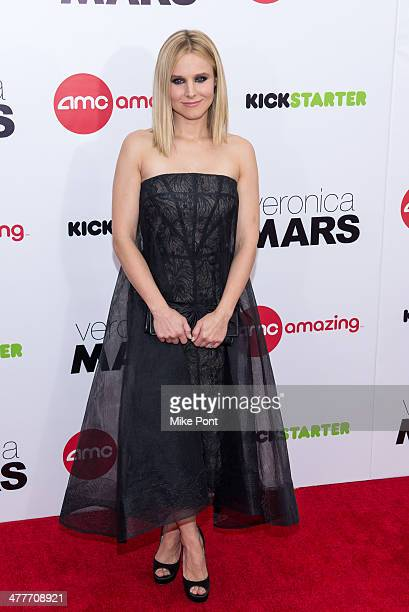 """Actress Kristen Bell attends the """"Veronica Mars"""" screening at AMC Loews Lincoln Square on March 10, 2014 in New York City."""