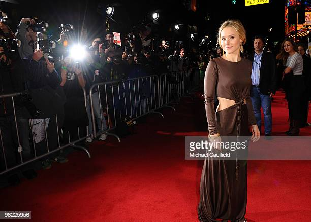 Actress Kristen Bell attends the When In Rome Los Angeles premiere at the El Capitan Theatre on January 27 2010 in Hollywood California