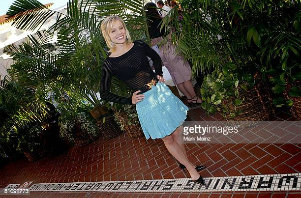 Actress Kristen Bell attends 'UPN's TCA Party' at Shutters at the Beach July 20 2004 in Santa Monica California