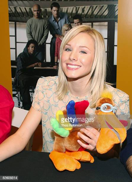 Actress Kristen Bell from the cast of 'Veronica Mars' appears at Macy's Herald Square on April 9 2005 in New York City
