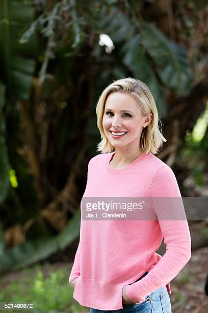 Actress Kristen Bell is photographed for Los Angeles Times on March 30 2016 in Los Angeles California PUBLISHED IMAGE CREDIT MUST READ Jay L...