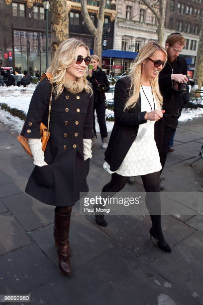 Actress Kristen Bell is seen around Bryant Park during day 4 of MercedesBenz Fashion Week Fall 2010 at Bryant Park on February 14 2010 in New York...