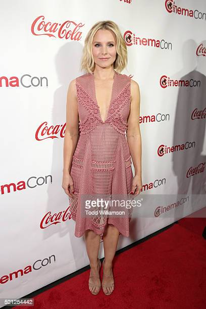 Actress Kristen Bell, one of the recipients of the Female Stars of the Year Award, attends the CinemaCon Big Screen Achievement Awards brought to you...