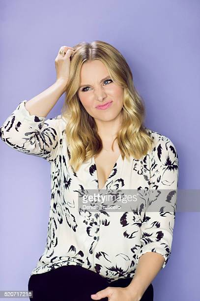 Actress Kristen Bell poses for a portrait at the 2013 D23 Expo on August 6 2013 in Las Vegas Nevada