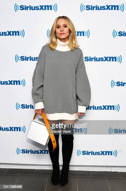 Actress Kristen Bell visits SiriusXM Studios on September 26 2018 in New York City
