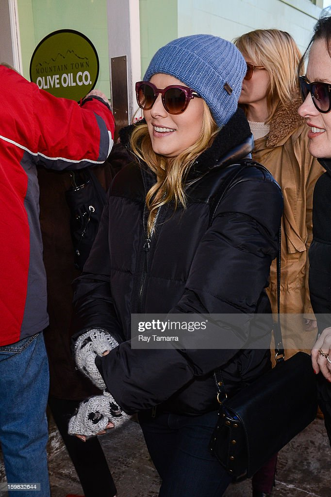Actress Kristen Bell walks in Park City on January 20, 2013 in Park City, Utah.