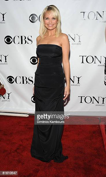 Actress Kristen Chenoweth attends the 62nd Annual Tony Awards at Radio City Music Hall on June 15 2008 in New York City